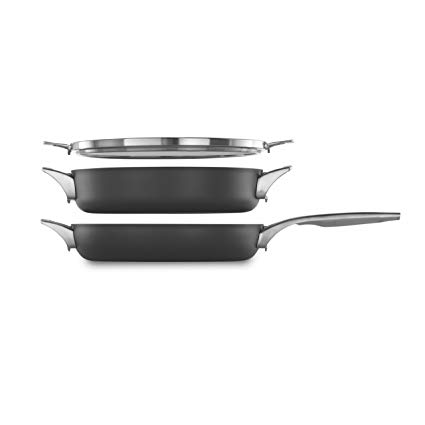 Calphalon Premier Space Saving Nonstick 3-Piece 12-in. Stack Cookware Set