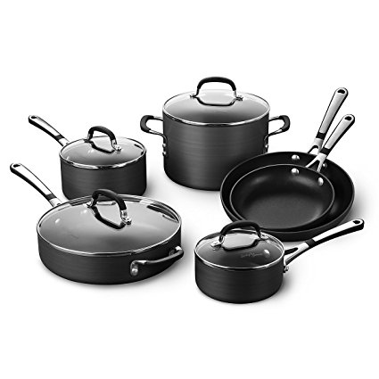 Simply Calphalon Nonstick 10 Piece Cookware Set