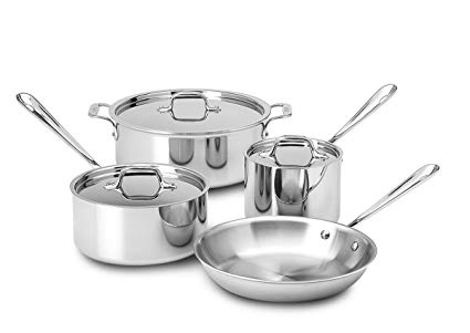 All-Clad 7 Piece Tri - Ply Stainless Steel