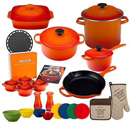 Le Creuset 27-piece Signature Cookware Set (Flame)