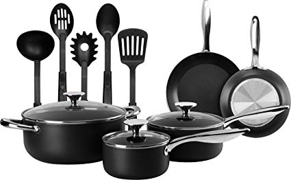 Utopia Kitchen 13-Piece Kitchen Cookware Set - Pots and Pans Set with Cooking Utensils - Double Nonstick Coating